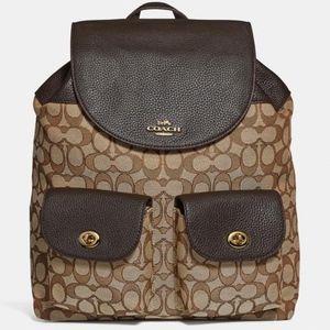 Billie Backpack in Signature Jacquard